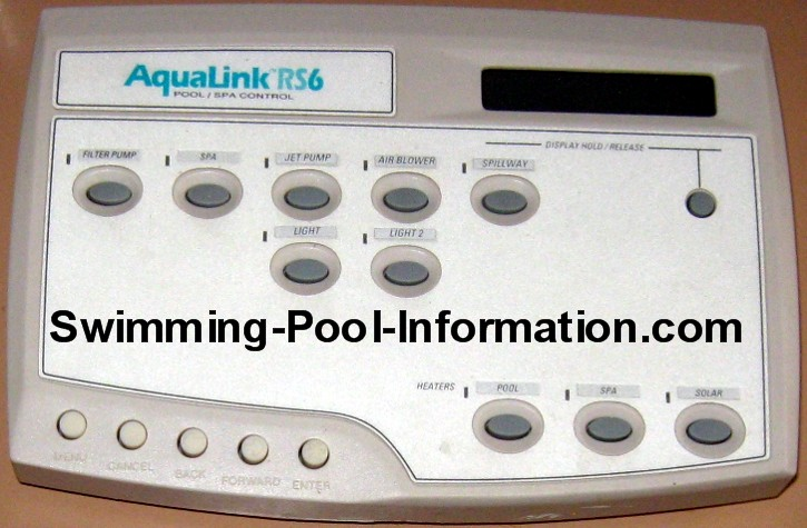 Jandy Aqualink RS control digital swimming pool controls  at edmiracle.co