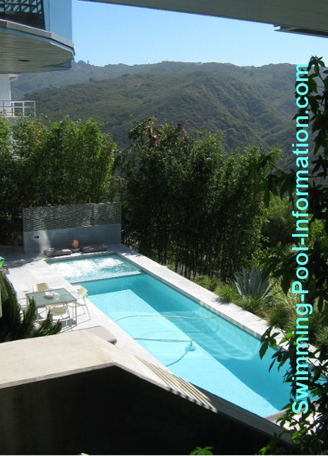 Pictures of swimming pools for Pool design hillside